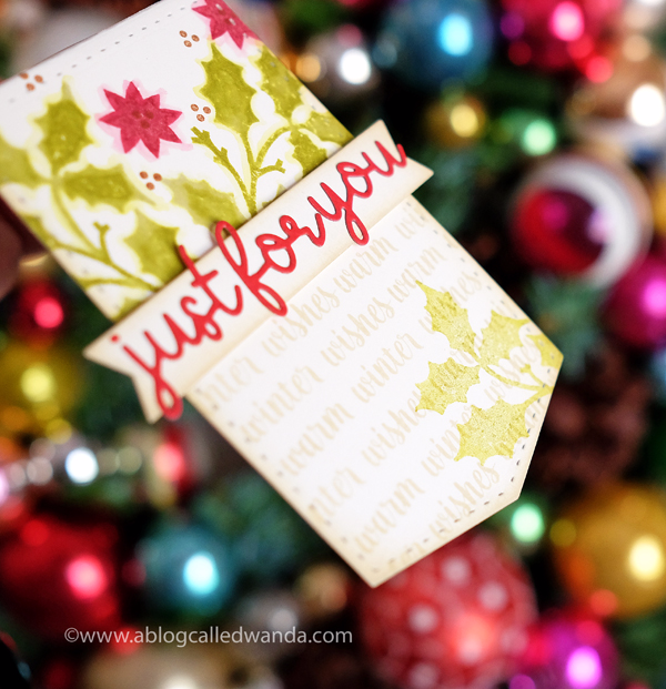 christmas wine bottle tag