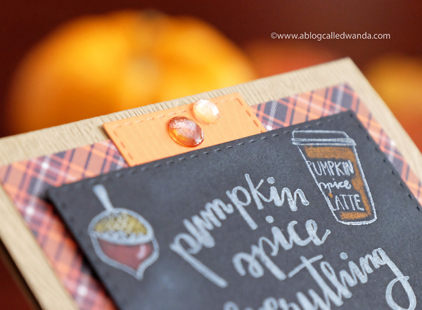 Fall Card - plaid and chalkboard by Wanda Guess