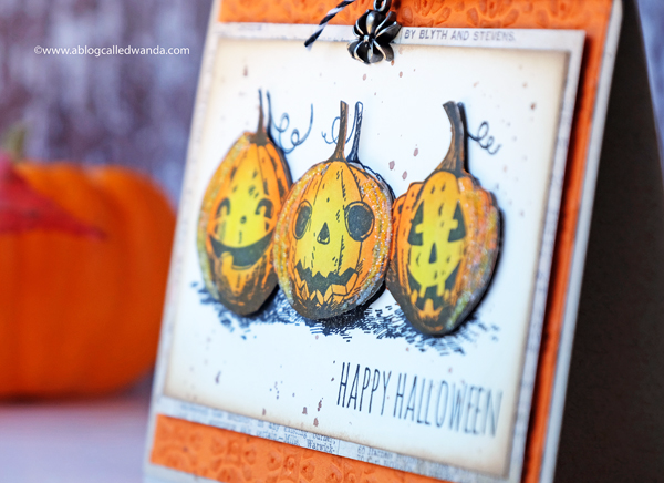 Halloween Card using Tim Holtz Supplies
