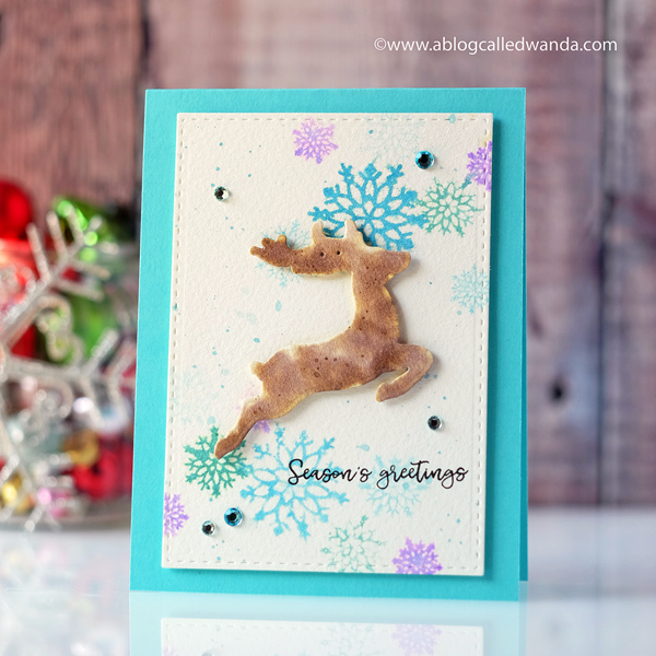 Papertrey Ink October new release. Dash Away All stamp set. Reindeer card by Wanda Guess