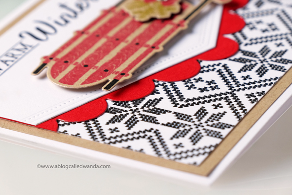 PTI FAIR ISLE BORDERS. CHRISTMAS CARD