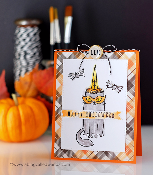Happy Halloween Card with Distress Inks coloring