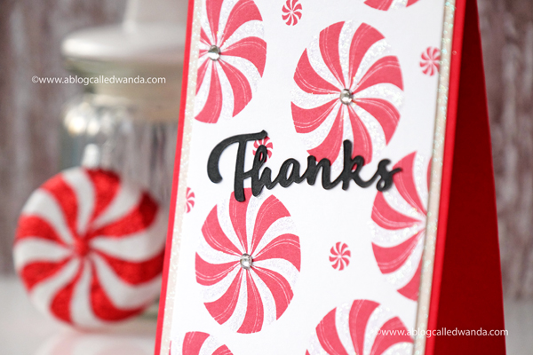 PTI Candy Cane Christmas. Christmas thank you card by Wanda Guess