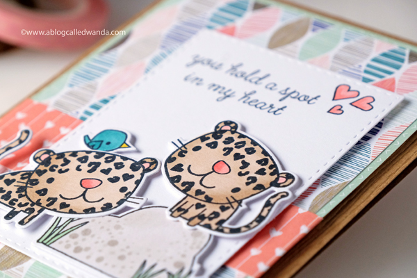 Copic coloring. Reverse Confetti Stamps. Card Layout