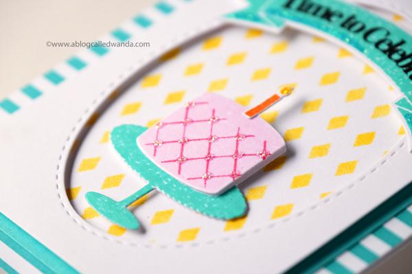 Papertrey Ink Fiesta Flag Birthday stamp set. Card by Wanda Guess. PTI design team