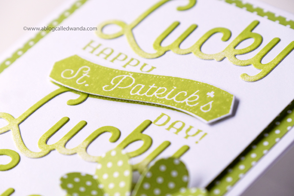 Papertrey Ink Lucky Scratch stamp sets. St. Patrick's Day Card. Lucky! PTI design team