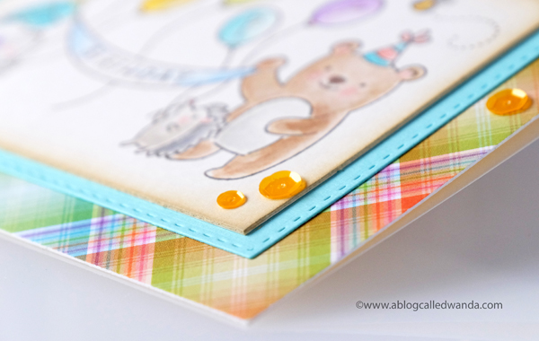 Lawn Fawn Plaid Rainbow Paper