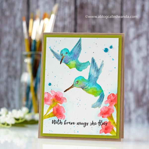 My Monthly Hero Card Kit Hummingbirds