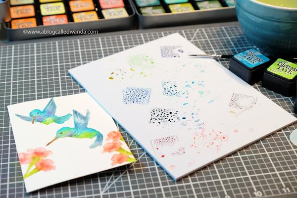 Hummingbird stamps