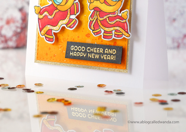 Mama Elephant Lion Dance Stamp Set. Chinese New Year card Wanda Guess