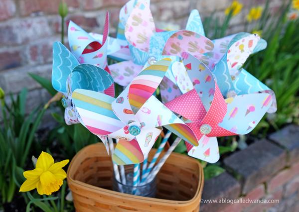 Photoplay paper Summer. Pinwheels