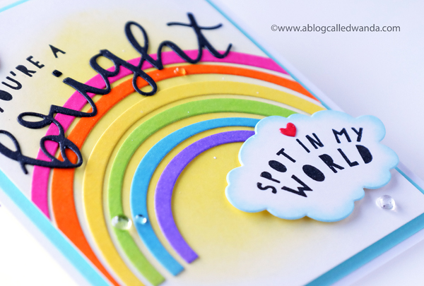 handmade rainbow card