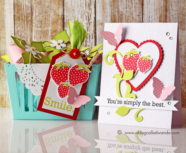 Papertrey Ink Berry Basket project by Wanda Guess