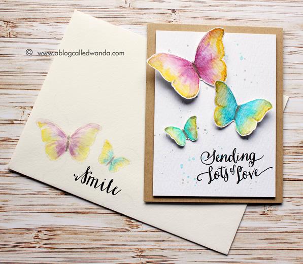 Watercolor butterflies by Wanda Guess