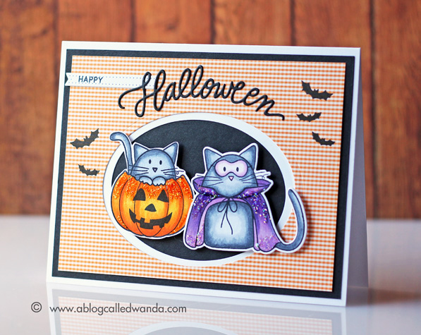 Simon Says Stamp Halloween Card by Wanda Guess