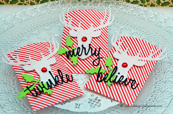 Sizzix dies used to make cool yule treat bags - Wanda Guess