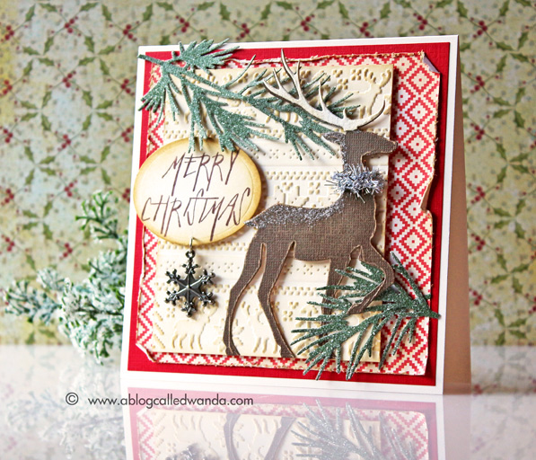 Tim Holtz 2014 Christmas supplies - card by Wanda Guess