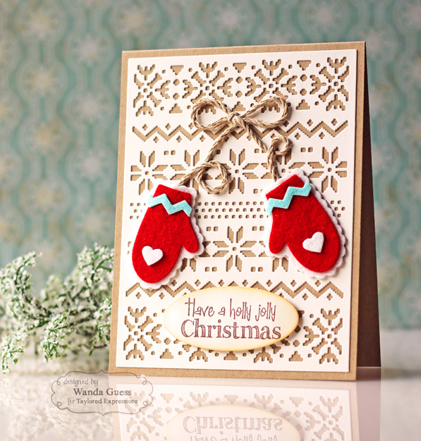 Cozy Mitten Card by Wanda Guess - Taylored Expressions supplies