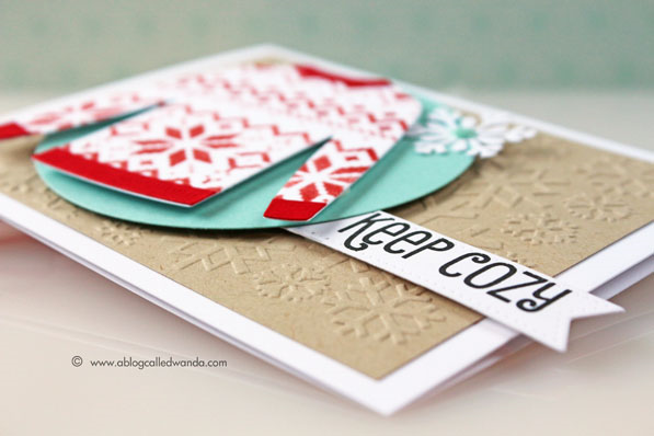 My Favorite Things Cozy Greetings and Sweater Dies... Card by Wanda Guess