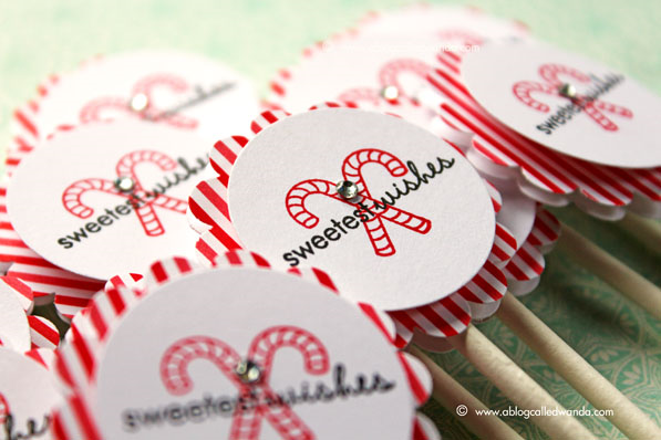 Papertrey Ink Tiny Treats Christmas - cupcake toppers by Wanda Guess