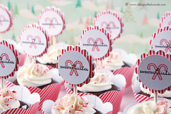 Cupcake toppers for Christmas by Wanda Guess -