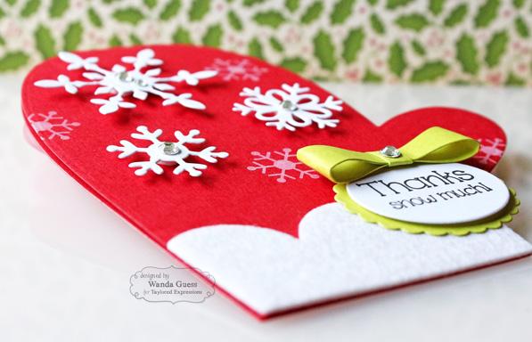 Mitten Thank You card by Wanda Guess