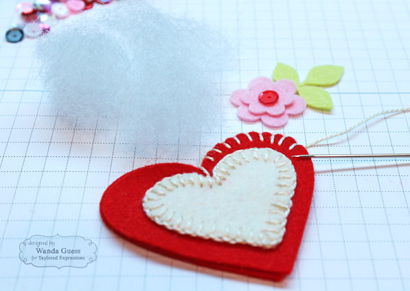 Felt Heart pins by Wanda Guess 7