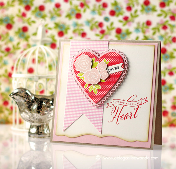 PTI Blog Hop card by Wanda Guess - Hearts! January 2015