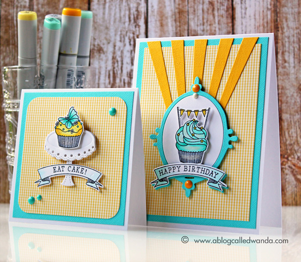 Papertrey Ink Bakers Dozen stamps. Card by Wanda Guess for the March blog hop.