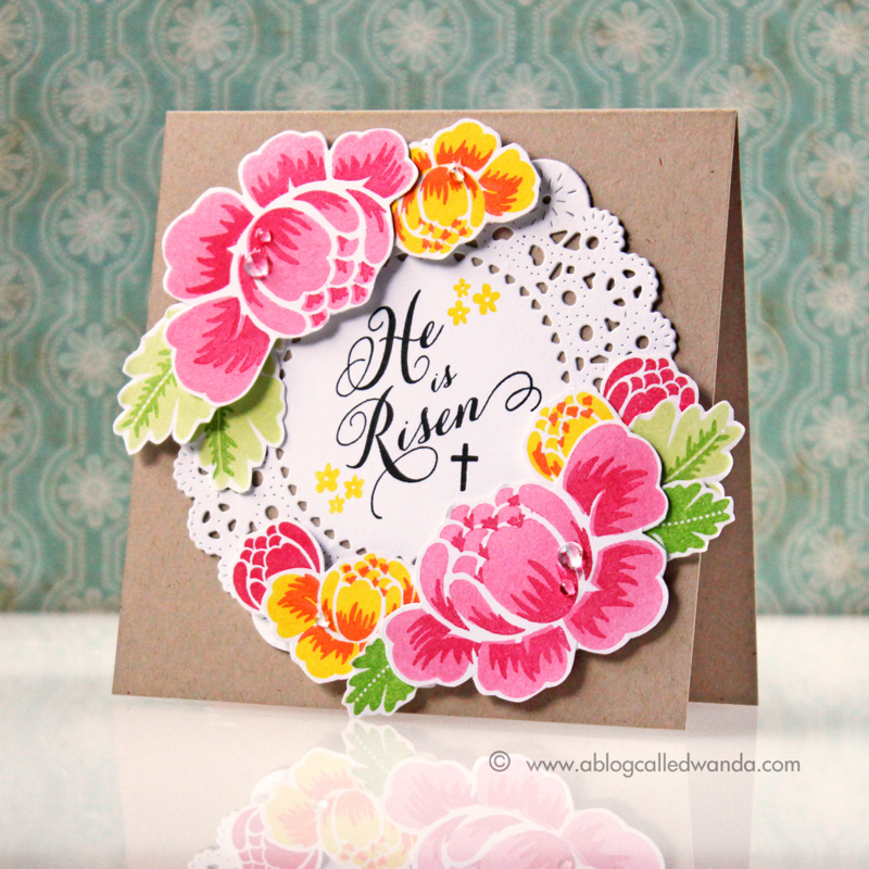 Papertrey Ink Rosie Posie - card by Wanda Guess