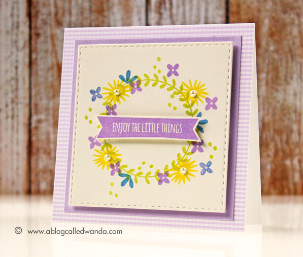 Floral Wreath Card by Wanda Guess. Simon Says Stamp