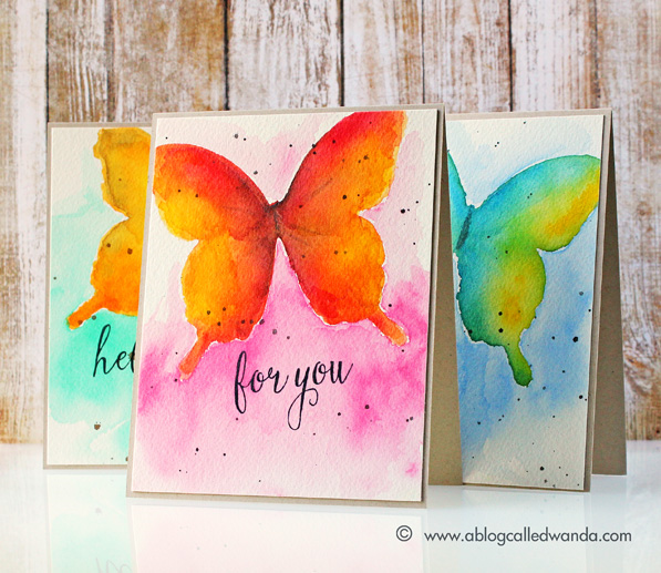Watercolor butterfly tutorial by Wanda Guess