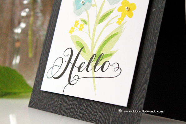 Papertrey Ink Graceful Greetings. Card by Wanda Guess