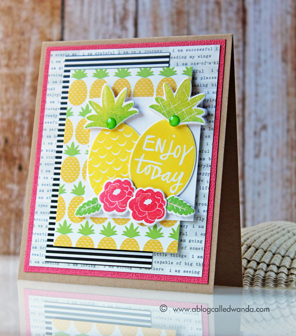 Reverse Confetti Pineapples - card by Wanda Guess