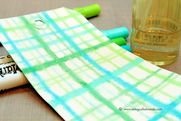 Create your own plaid background technique - tag by Wanda Guess