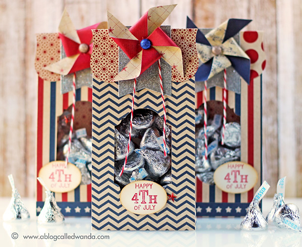 4th of July treat bags by Wanda Guess. Dies are Brenda Walton for Sizzix