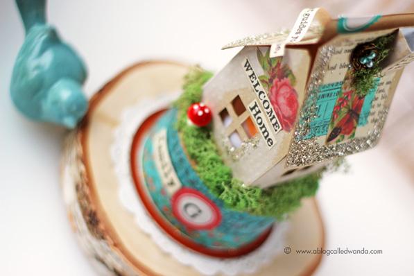 vintage paper miniature house - Wanda Guess