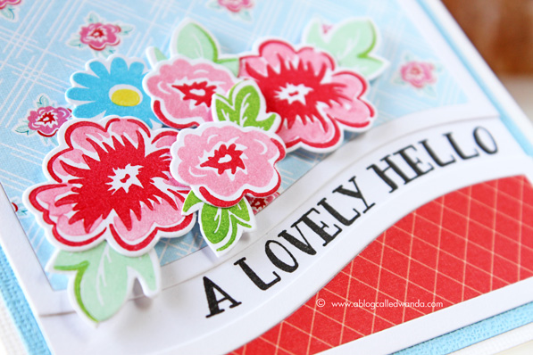 Papertrey Ink. Sentiment Splits and Nostalgic Notions products. Card by Wanda Guess