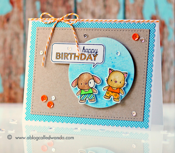Mama Elephant Exclusive from Simon Says Stamp! Card by Wanda Guess #sssfave