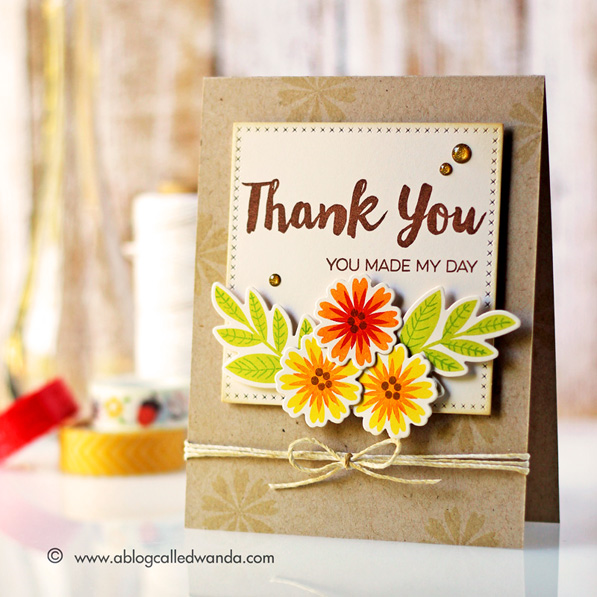 My Favorite Things stamps with Simon Says Stamp for Stamptember. Modern Blooms and Thanks for Being There. Card by Wanda Guess #sssfave