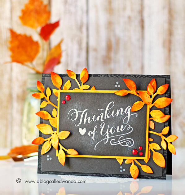 Papertrey Ink Blog Hop. September 2015. Graceful Greetings stamps. Chalkboard stamping technique. Card by Wanda Guess