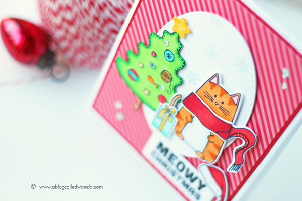 Simon Says Stamp - Create Joy release. Holiday 2015. Card by Wanda Guess  #ssssfave   Christmas Cats stamp set!