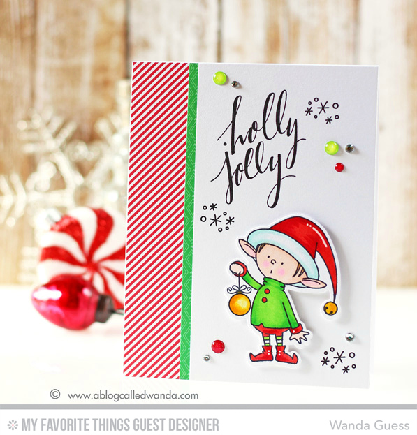 MFT Santas Elves card! By Wanda Guess
