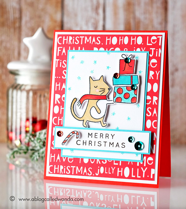 Simon Says Stamp December Card Kit. Card by Wanda Guess #sssfave