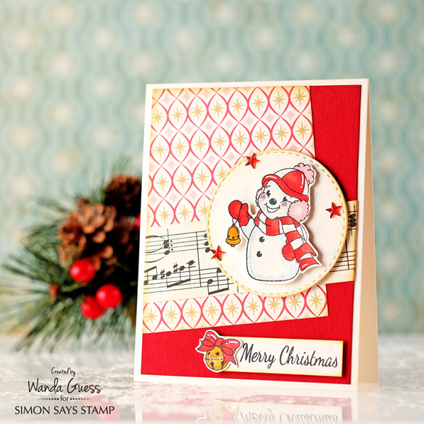 Simon Says Stamp Holiday card kit. Retro Christmas. Made by Wanda Guess   #sssfave