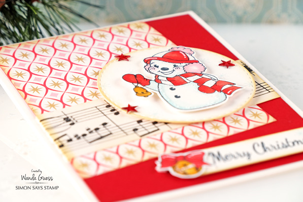 #simonsaysstamp #sssfave  Retro Holiday and Vintage Christmas card