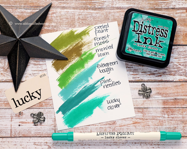 Lucky Clover ink swatch. A Blog Called Wanda
