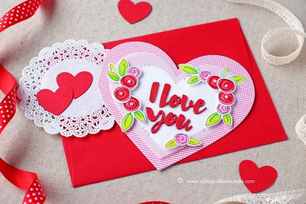Simon Says Stamp new release blog hop. Valentine Release 2015. You Have My Heart. Card by Wanda Guess #sssfave