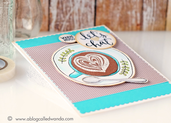 Concord & 9th Let's Chat stamp set. Card by Wanda Guess