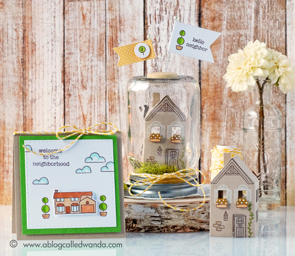 Hero Arts 2016 catalog blog hop. 3D house die and matching stamps.